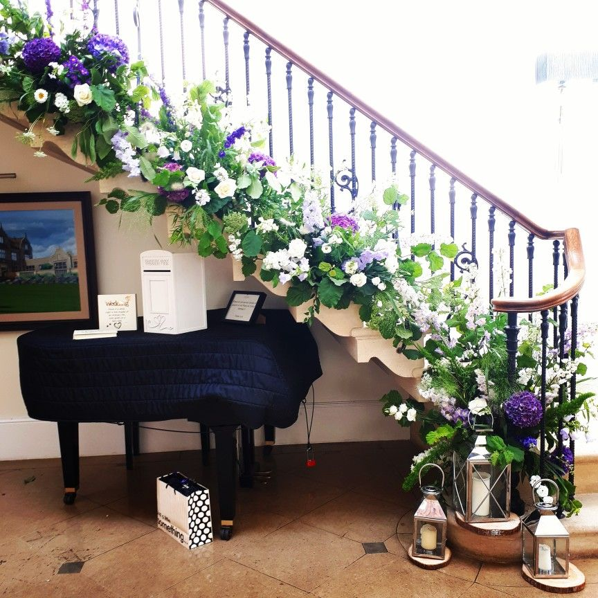 Venue Decorations: Floral Staircase Wedding Decoration