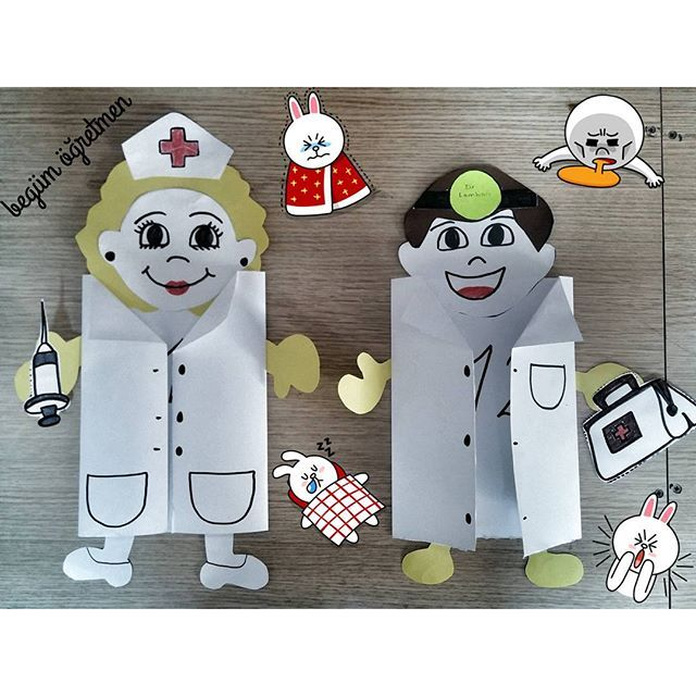 Doctor craft idea n stenky pinterest craft for Doctor crafts for toddlers