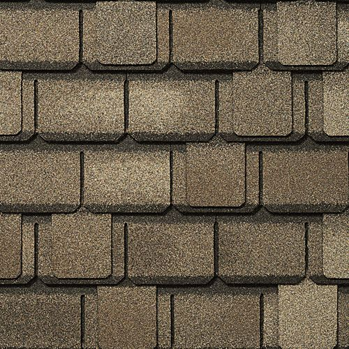 Here S A Close Up Of Gaf Designer Roof Shingles In Aged Oak We Are Proud To Offer Gaf Elk Asphalt Shingles As One Of Our Many With Images Shingling Roof Shingles Roofing