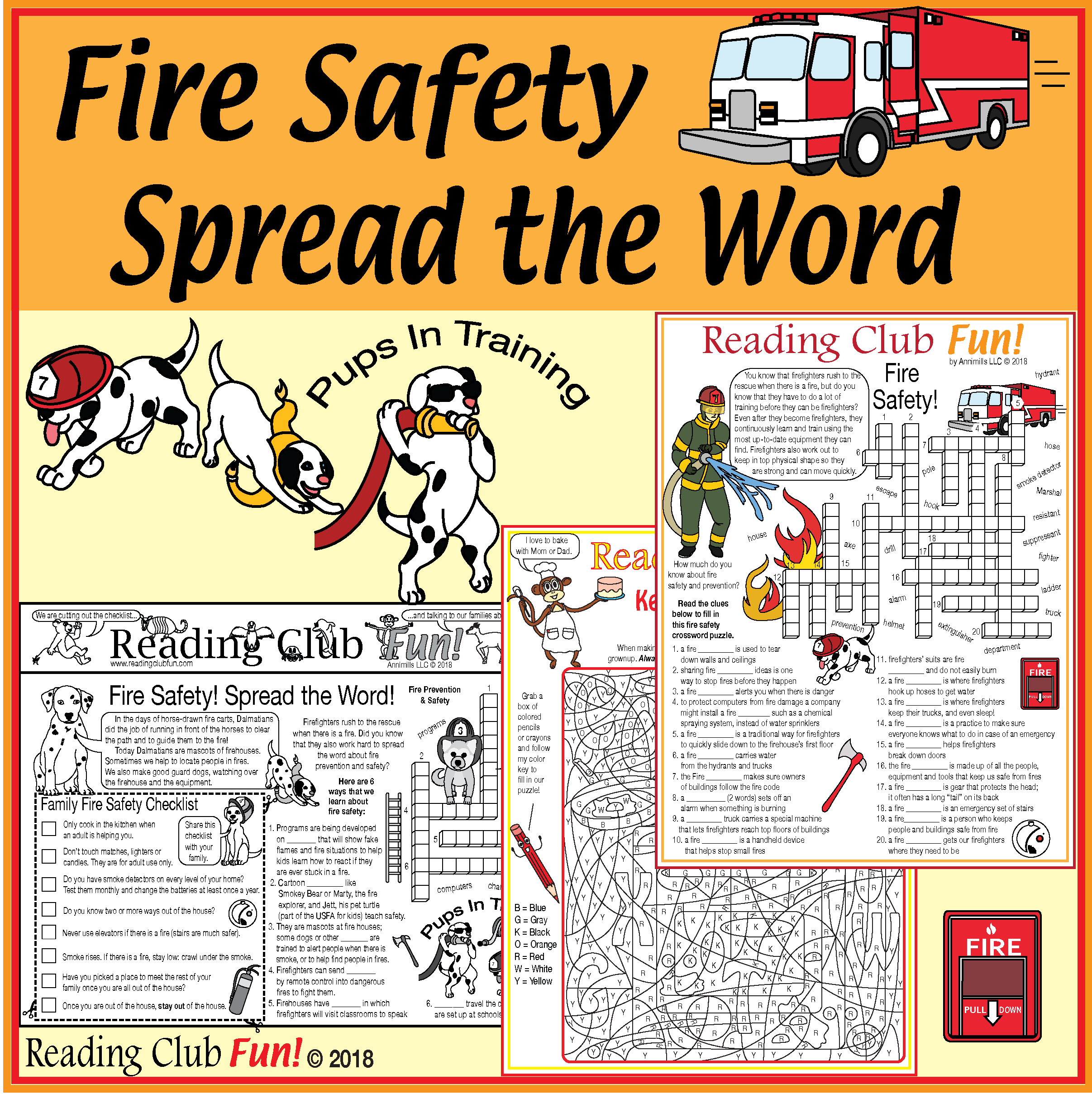 Fire Safety Puzzle Pack