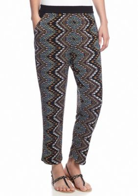 Grace Elements  Zig Zag Print Soft Pant