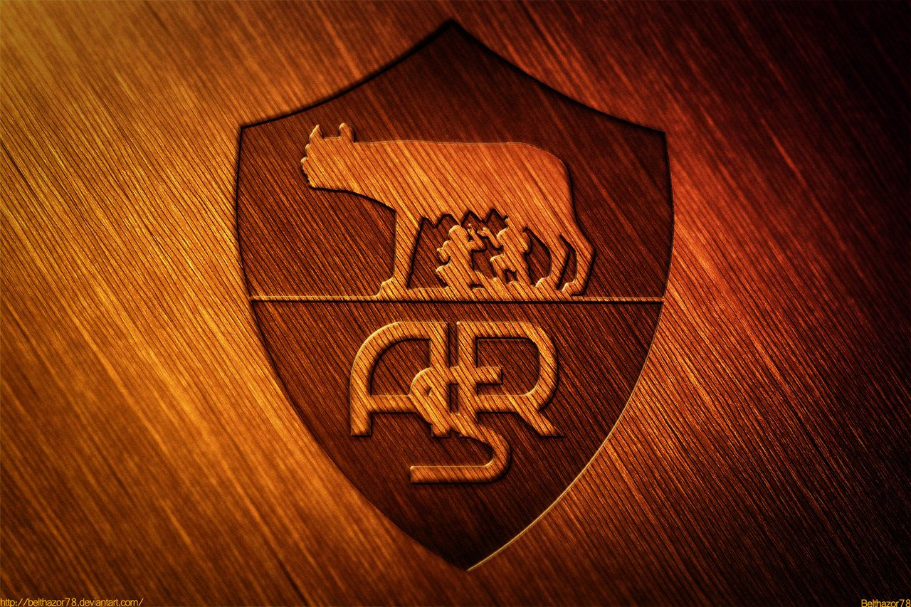 Stupendous A S Roma Wooden Logo By Belthazor78 Deviantart Com On Deviantart Hairstyle Inspiration Daily Dogsangcom