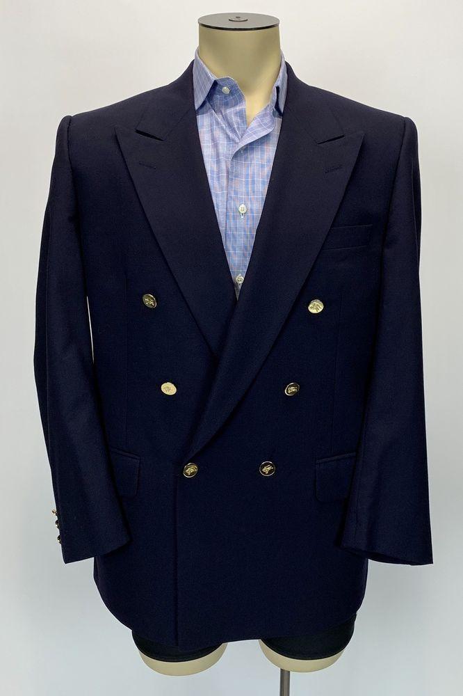 Navy Blue Hem /& Seam Mens Regular Fit Textured Formal Trousers W34//L31