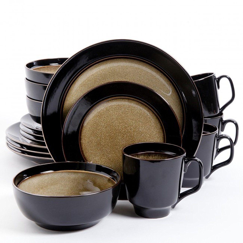Amazon.com   Bella Galleria Dinnerware Sets Dw Taupebk 16pc Dinnerware Sets  sc 1 st  Pinterest & Amazon.com   Bella Galleria Dinnerware Sets Dw Taupebk 16pc ...