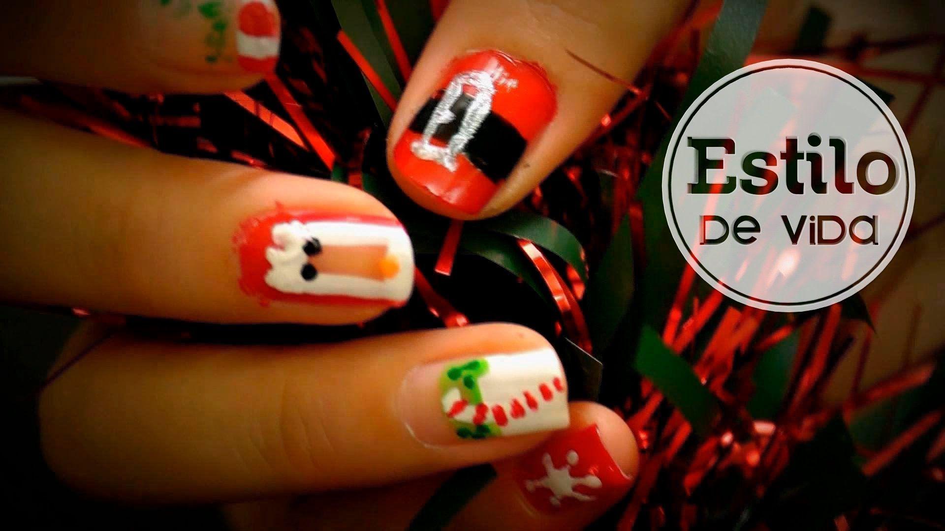 Uñas para Navidad #nailart #manicura #facil #fiestas #video ...
