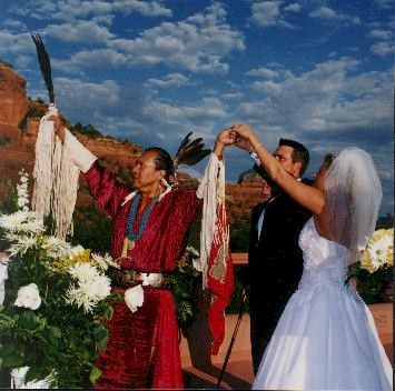 Native American Wedding Ceremony Honoring The Spirits Of Air