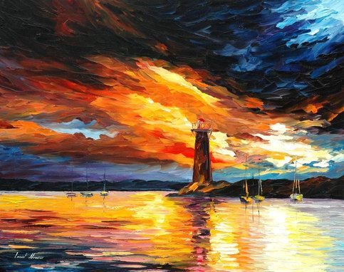 """Original Recreation Oil Painting on Canvas   Title: BEFORE A STORM Size: 24"""" x 30""""  Condition: Excellent Brand new Gallery Estimated Value: $3,500 Type: Original Recreation Oil Painting on Canvas by Palette Knife  This is a recreation of a piece which was already sold.  The recreation i..."""