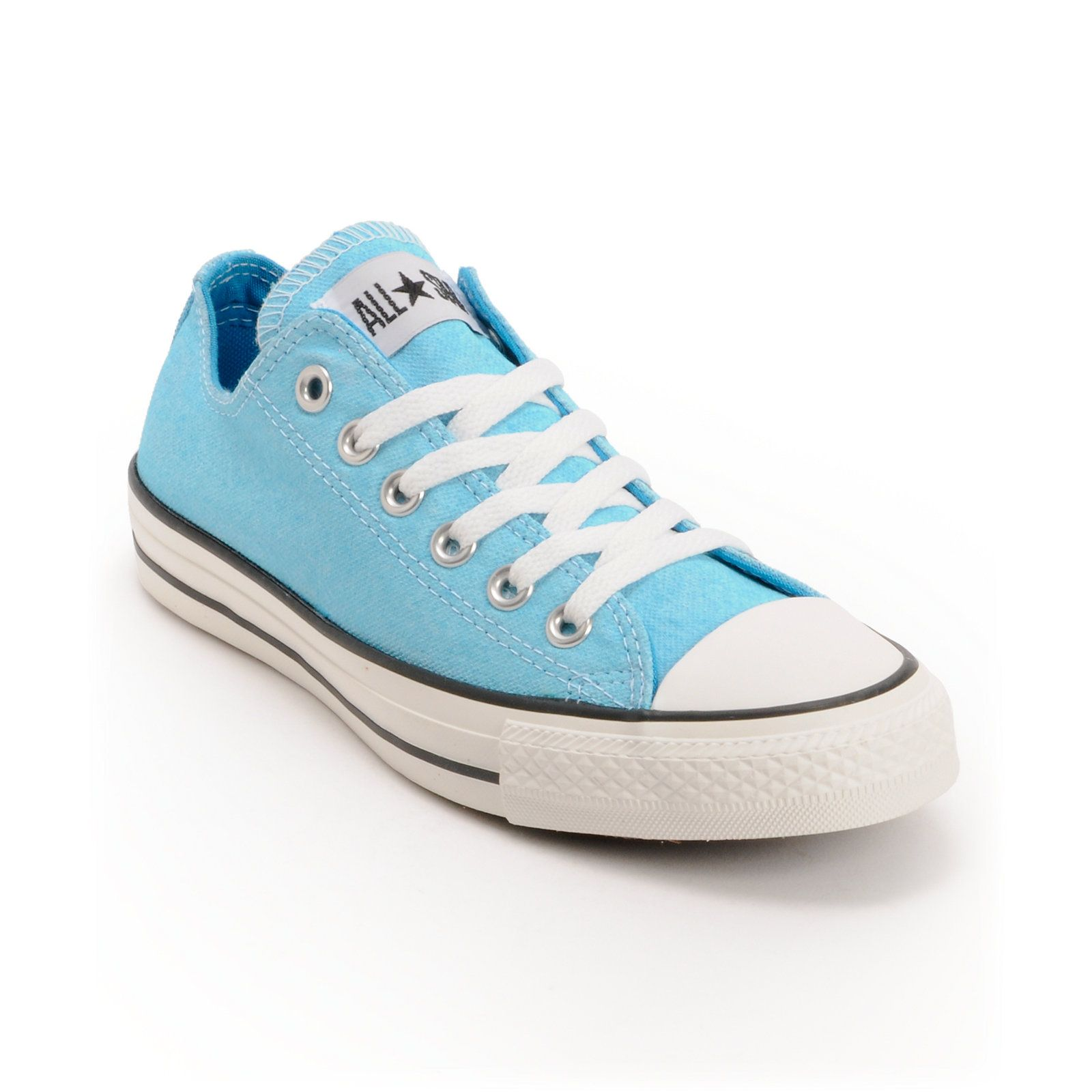 Converse Chuck Taylor All Star Washed Neon Blue Shoe at