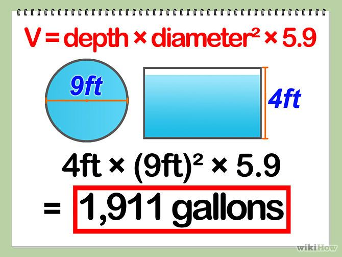 How To Calculate Swimming Pool Volume In Gallons Swimming Pool Equipment Swimming Pools Gallon
