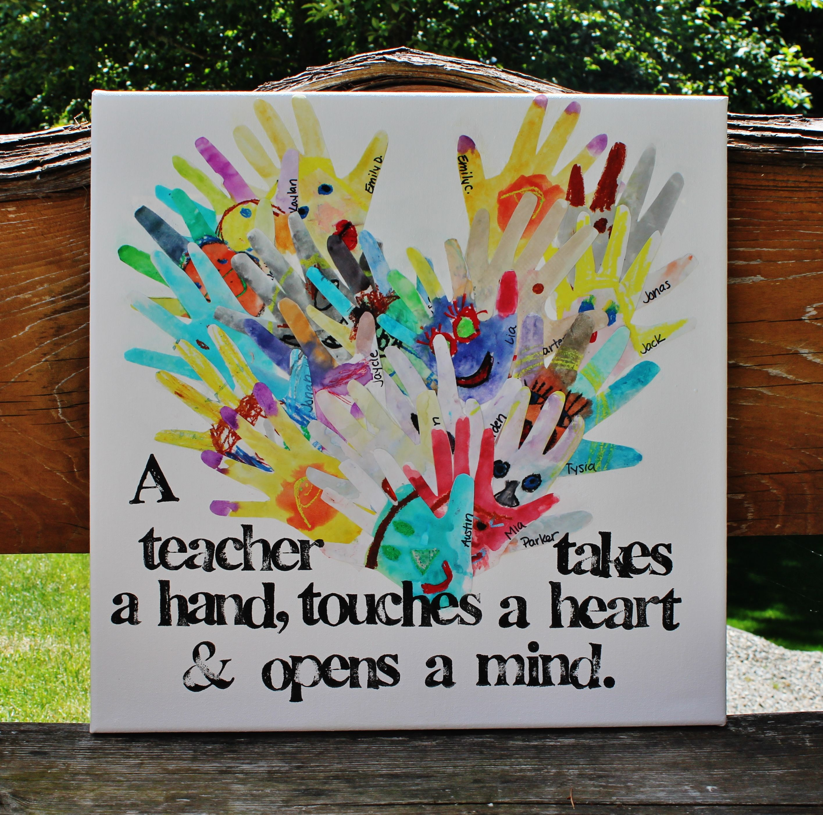 Art docent gift to teacher end of year gift water color