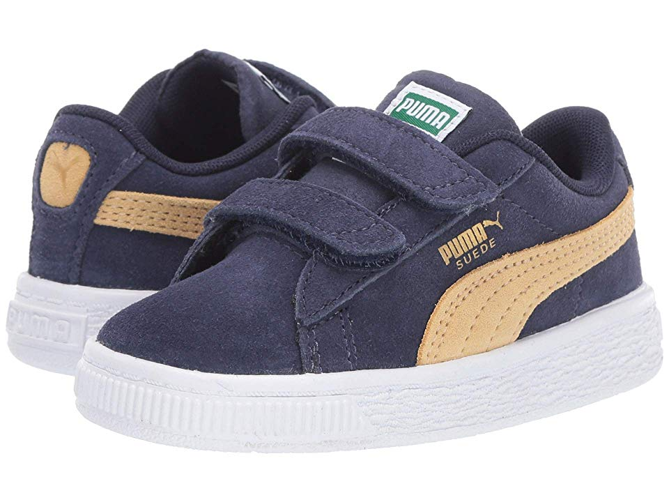 size 40 a5d07 66d22 Puma Kids Suede Classic V (Toddler) Boys Shoes Peacoat/Taos ...