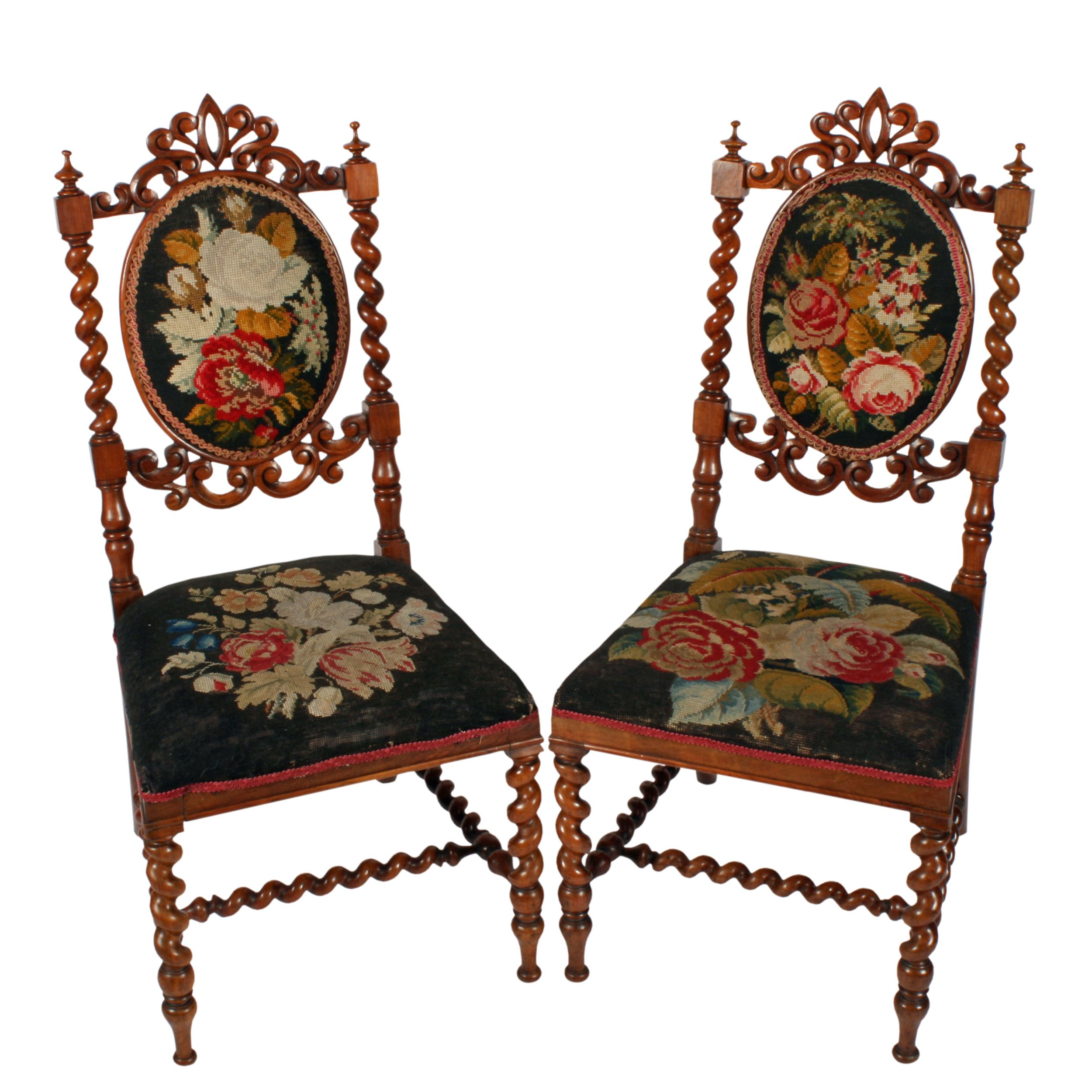 Antique victorian bedroom furniture - Pair Of Antique Victorian Walnut Cameo Back Bedroom Chairs The Fine Carved Antique Walnut Chairs Are Available To Buy Now Online Or In Store