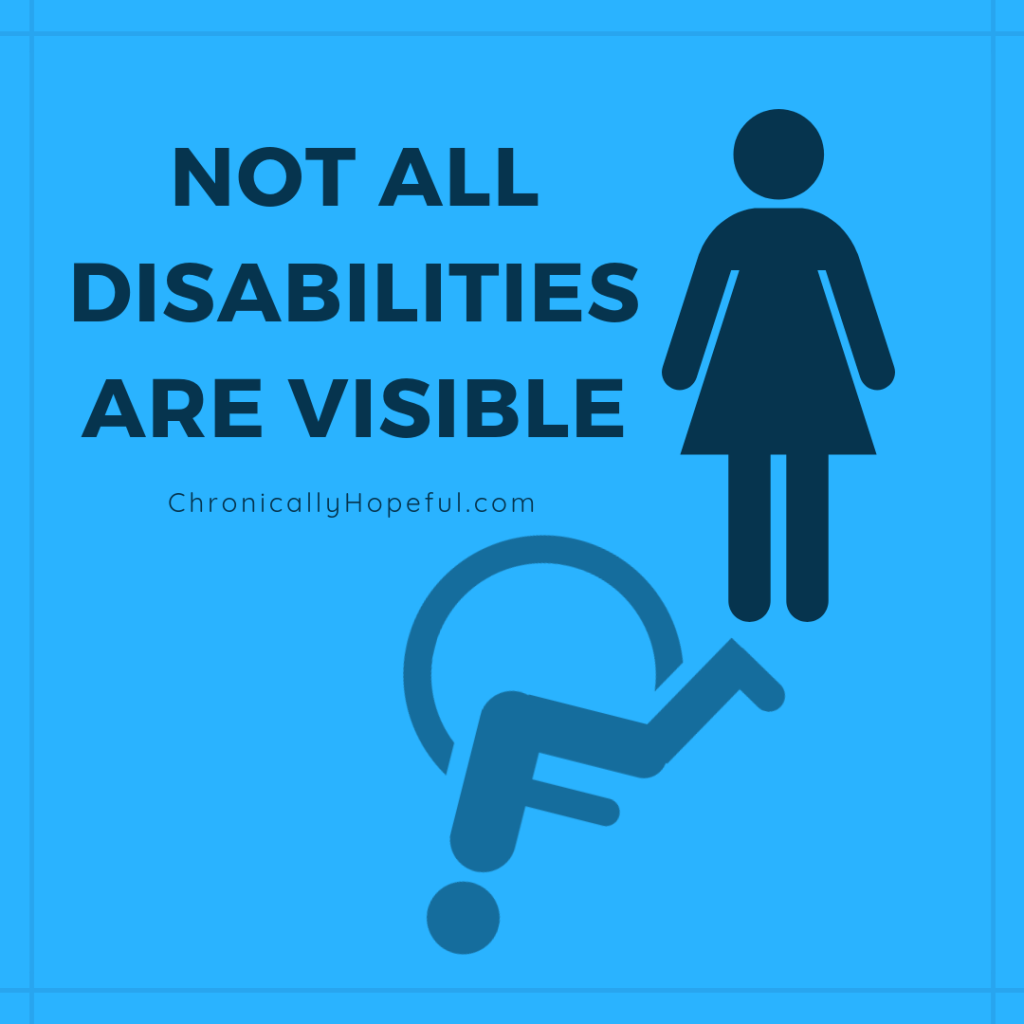 not all disabilities are visible - HD1080×1080