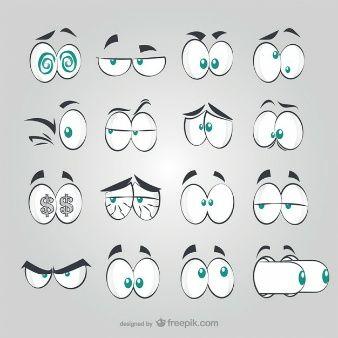 Enjoy These Cartoon Vectors For Free Olhos Desenho Animado Desenhos Animados Olhos