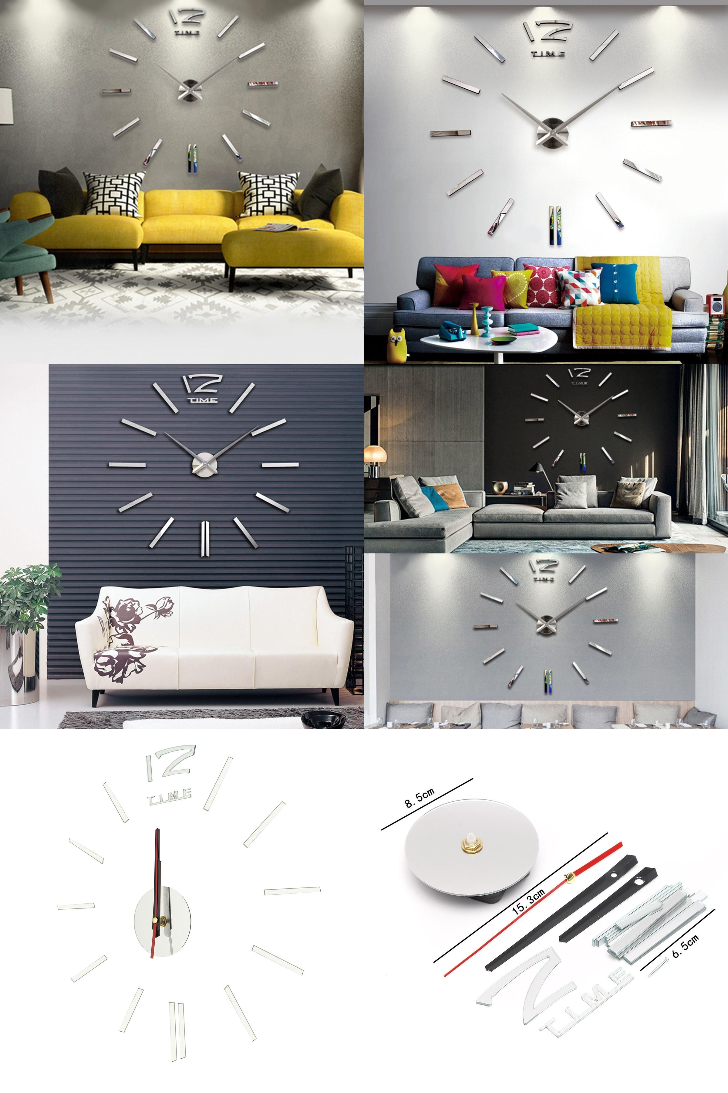 [Visit To Buy] Acrylic 3D Diy Mirror Surface Wall Sticker