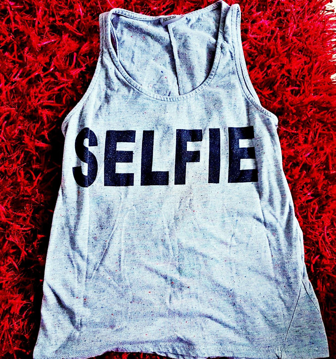 Top mit Druck - Selfie