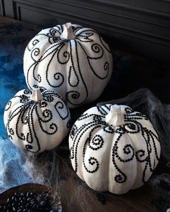 decorative pumpkins Ghosts and Goblins Pinterest Jewel, Puff - halloween pumpkin painting ideas