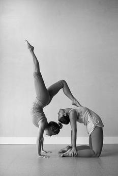 pinkris talluly on acro / partner yoga  partner yoga