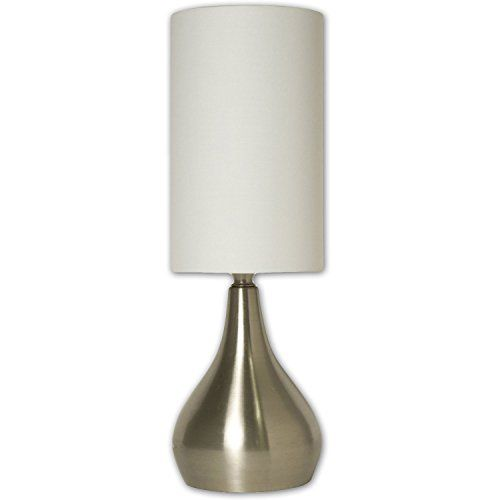 Light Accents Table Lamp Modern 18 Inches Tall With 3way Switch Feature And White Fabric Drumshade With Images Bedside Lamp Modern Touch Lamps Bedside Modern Table Lamp