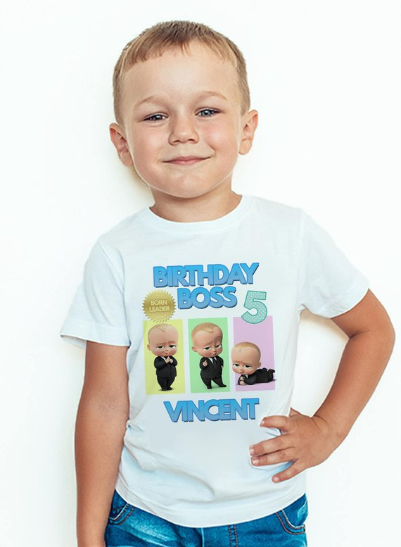 a9f245df Boss Baby Birthday Shirt Personalized Name and Age Boss Baby Custom Shirt