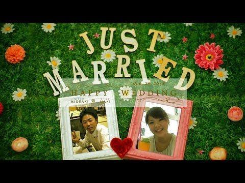 【大人気】 結婚式プロフィールムービー 新作かわいいコマ撮り