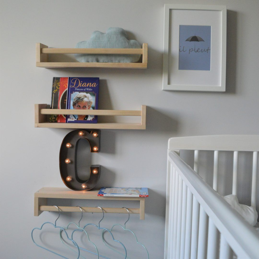 C Is For Cloud Nursery Decor Blue Grey And White Palette