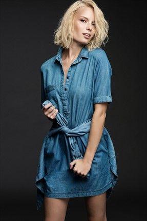 Clara Mavi Denim Elbise Mgwaw16gy0123 Elbise Moda Stilleri The Dress
