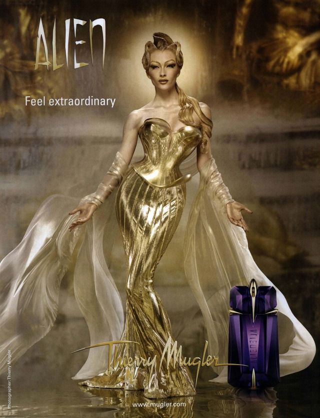 Thierry Mugler Ad Campaign Alien With Images Thierry Mugler