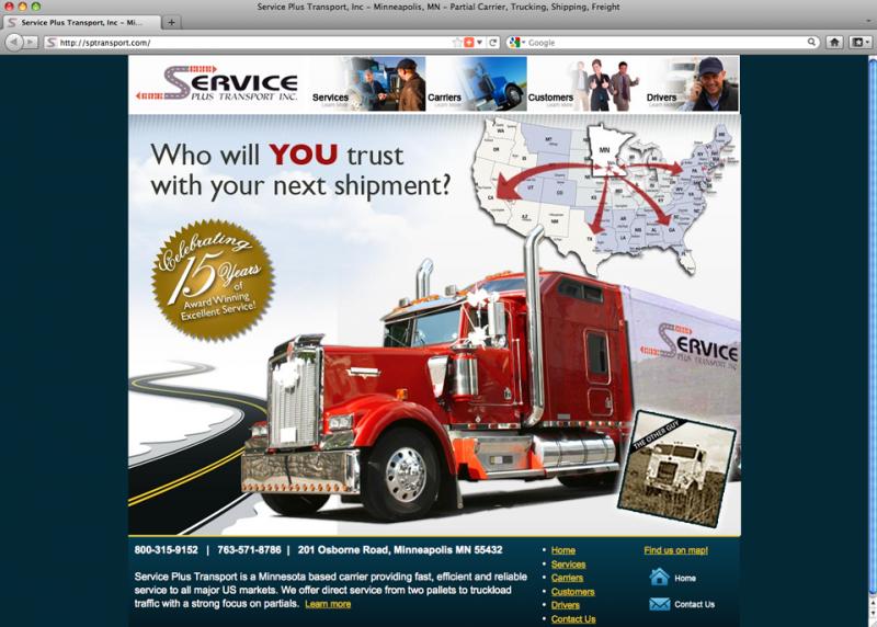 Service Plus Transport - Website Design by Phoenix Web