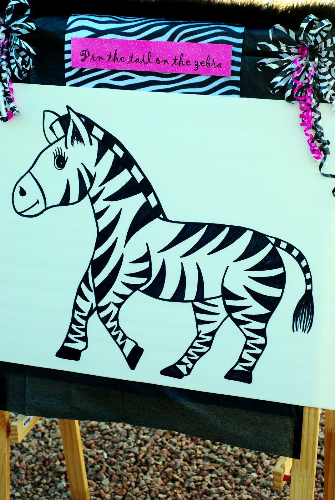 Картинки зебра на день рождения