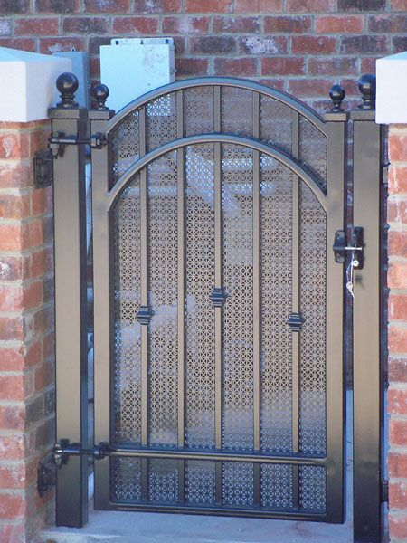 Garden Courtyard Wine Cellar Gates With Images Iron Gates