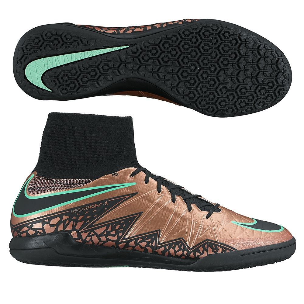 Nike HypervenomX Proximo IC Indoor Soccer Shoes (Metallic Red Bronze ... 9532e2e167c