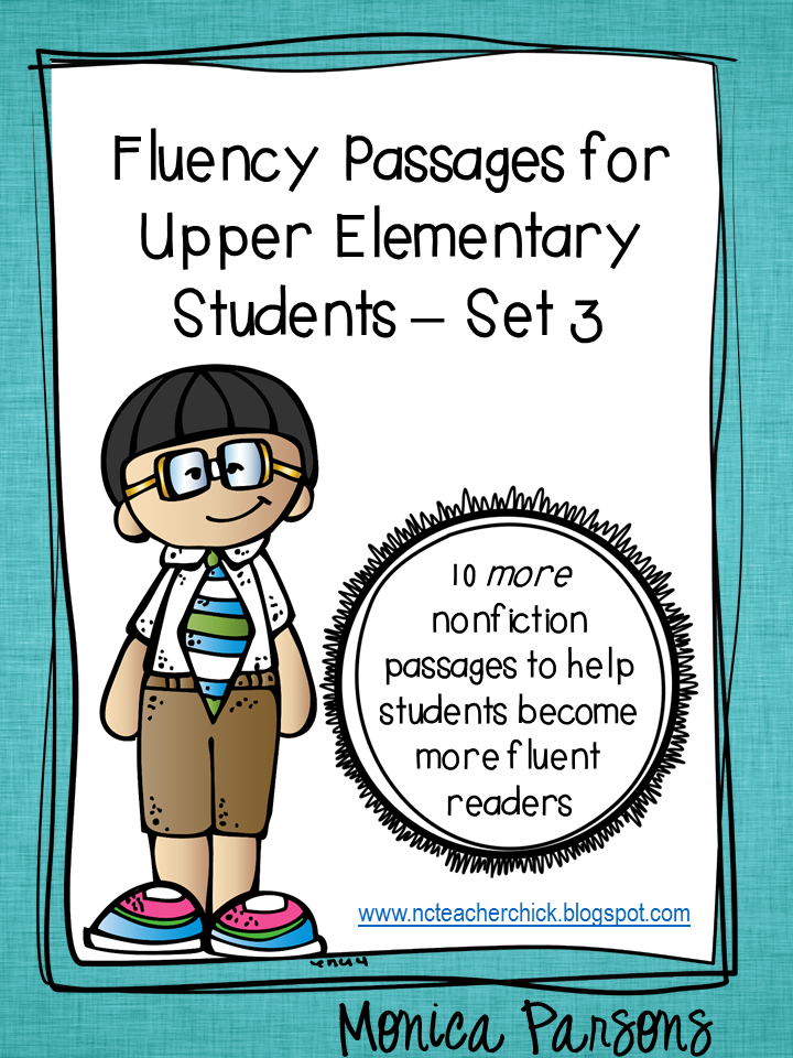 Fluency Passages for Upper Elementary Students - Set 3!