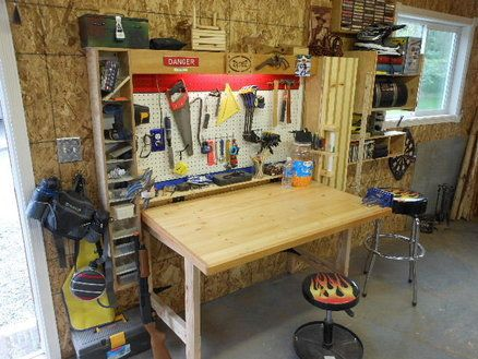 Fold Down Workbench Shop Stuff In 2019 Workbench