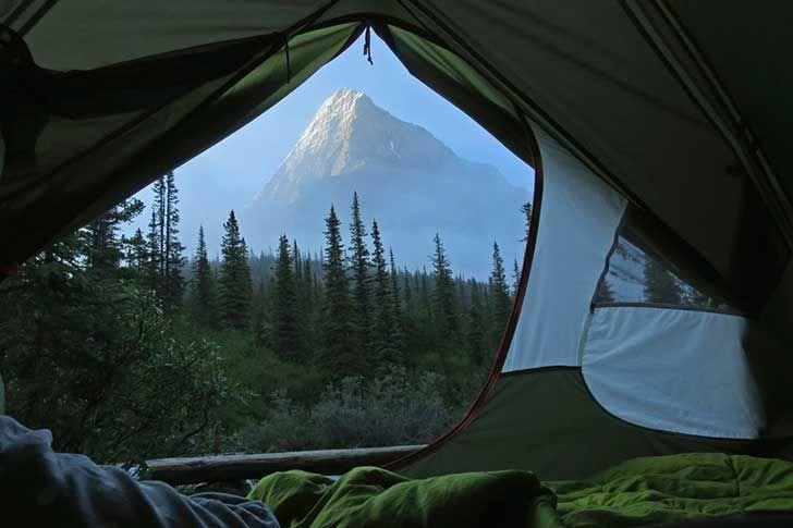 Campamento lugar al aire libre