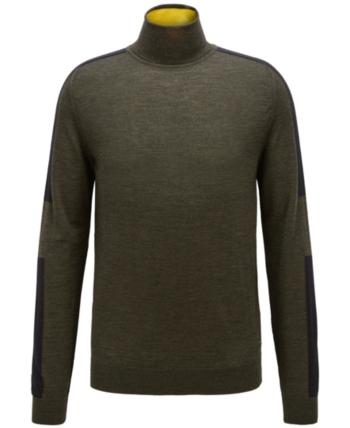 9b2a582dd BOSS Men's Virgin Wool Turtleneck Sweater in 2019   Products ...