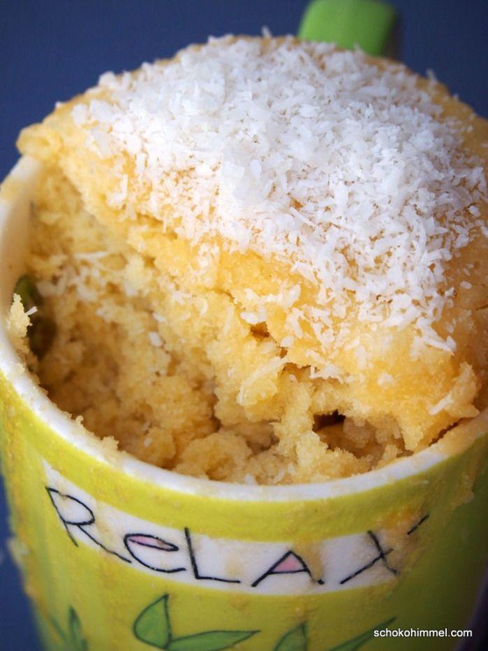 Mug Cake Mit Weisser Schoko Kokos Rezept Backen