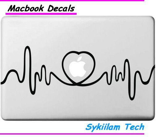 eefb0e9f90a Heart Graph for Apple Vinyl Sticker for Macbook Skin Air 11 13 Pro 13 15 17