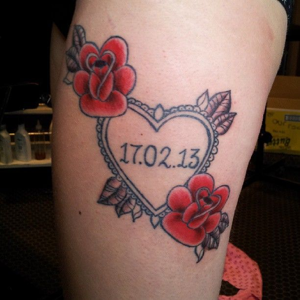 Wedding Date Tattoo Design | Cool Tattoo Designs | Body Art ...