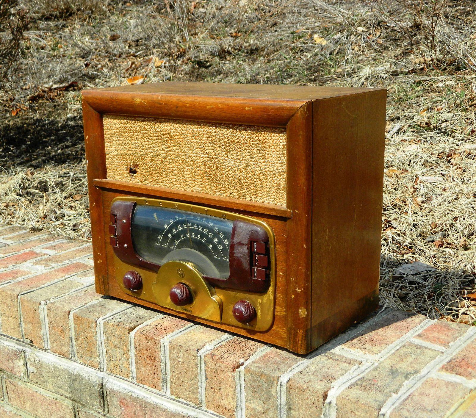 Antique 1948 Zenith Am Fm Radio Model 8h832 Ebay