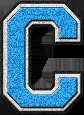 Presentation Alphabets Light Blue Varsity Letter C Varsity Letter Letter G Lettering