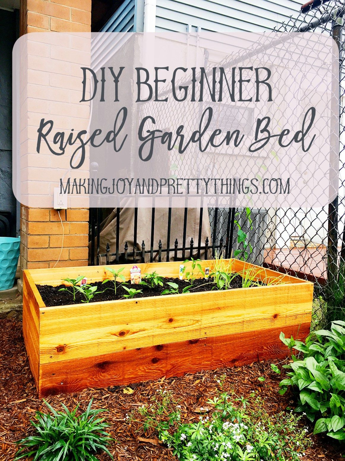 diy beginner raised garden bed making joy and pretty things pinterest raised garden beds. Black Bedroom Furniture Sets. Home Design Ideas
