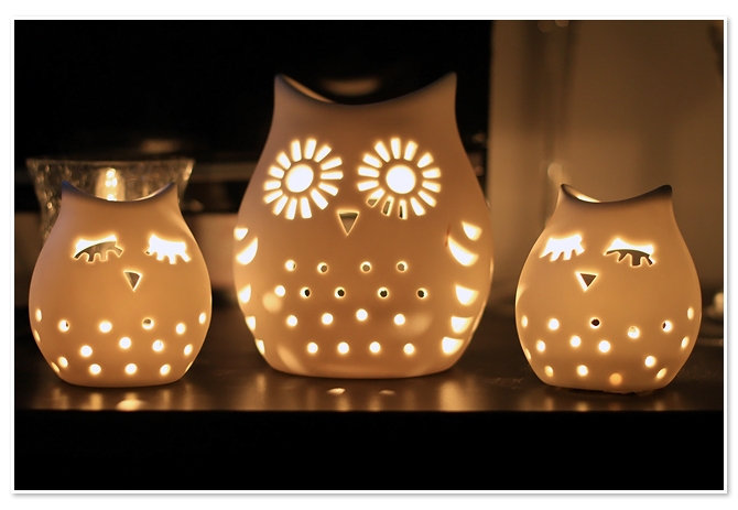 Owl Tea Light Holder For The Home Keramik Keramik