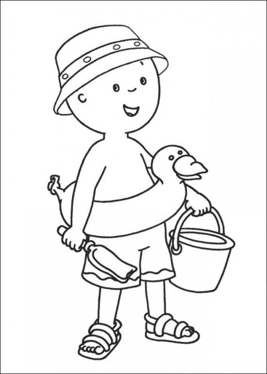 Caillou coloring pages online picture 19 550x770 picture