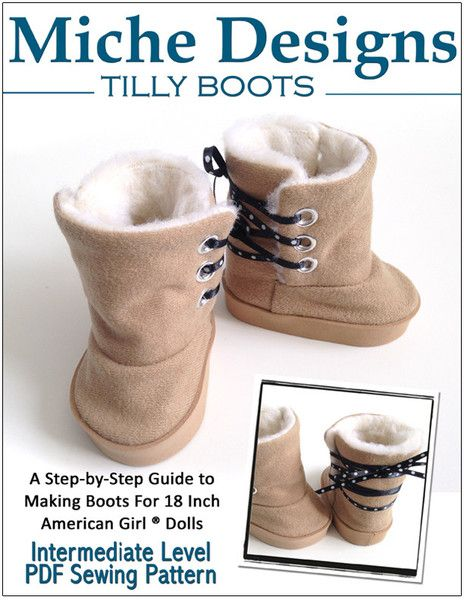 """TILLY BOOT 18"""" DOLL SHOES"""