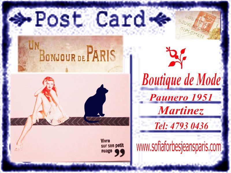 "POST CARD DE LA BOUTIQUE ""LA PARISIENNE"""