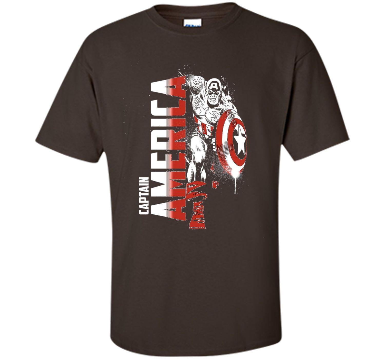 Marvel Captain America Avengers Paint Splat Graphic T-Shirt