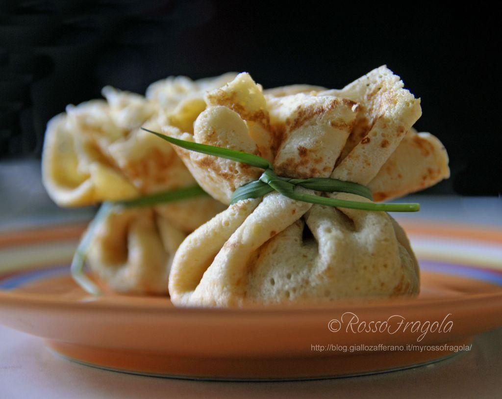 Fagottini di crepes con funghi zucca e taleggio primi for Cucinare x diabetici