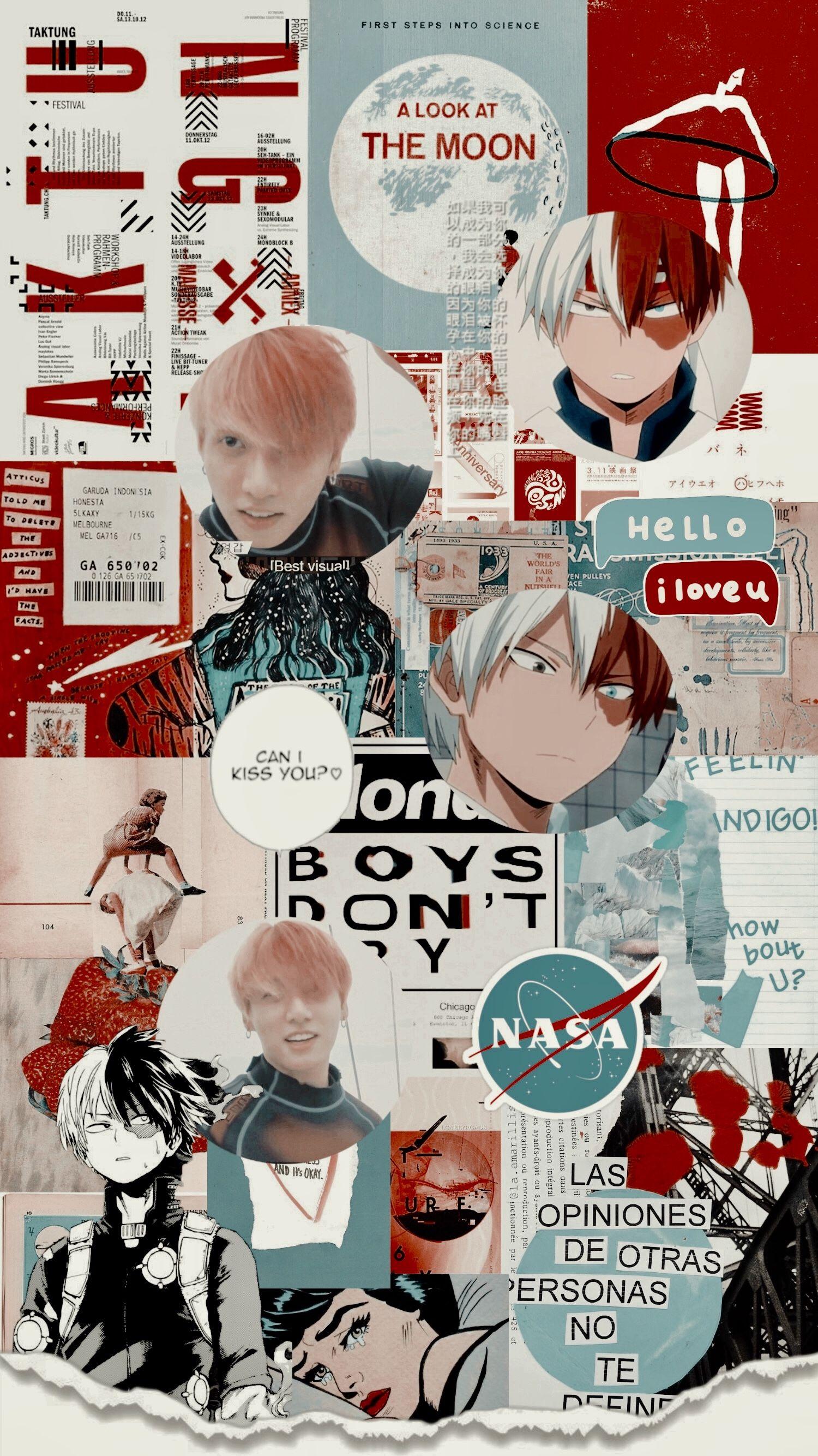 Jungkook Todoroki Bts Anime Kpop Wallpaper Bokunohero Cute Anime Wallpaper Anime Life Anime Wallpaper