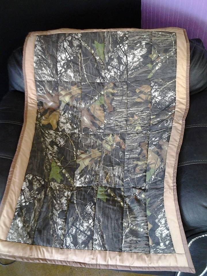 NEW Handmade Camouflage Baby Quilt , Mossy Oak Real Tree Print ... : mossy oak quilt - Adamdwight.com